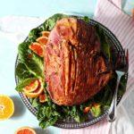 Baked Ham with Bourbon Orange Glaze