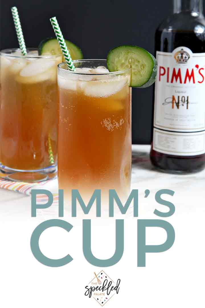 Pinterest graphic for Pimm's cups