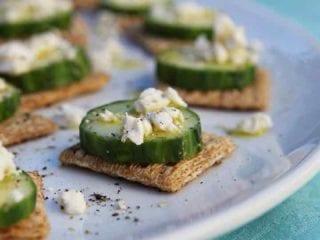 TRISCUIT Cracker Cucumber Bites