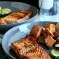Monday's Dinner: Brown Sugar Bourbon Salmon