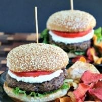 Tuesday's Dinner: Middle Eastern Spiced Lamb Burger
