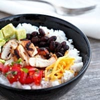Friday's Dinner: Chicken Burrito Bowls
