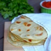 Monday's Dinner: Homemade Flour Tortillas
