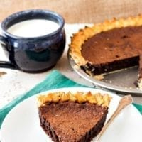 Dessert Option #1: Old-Fashioned Chocolate Chess Pie