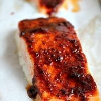 Tuesday's Dinner: Honey Chipotle Salmon Sheet Pan Recipe