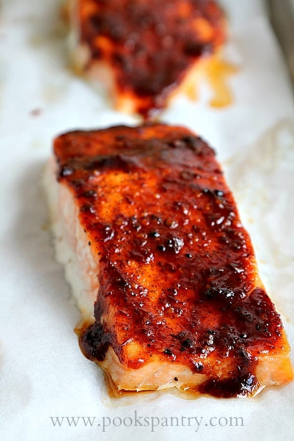 Tuesday's Dinner: Sheet Pan Honey Chipotle Salmon