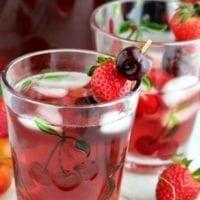 Drink Option: Strawberry Cherry Wine Spritzer
