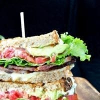 Tuesday's Dinner: Gourmet BLT Sandwich with Cheddar and Avocado