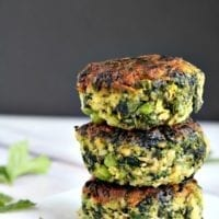 Wednesday's Dinner: Green Vegetable Cakes
