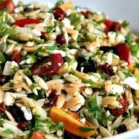 Thursday's Dinner: Mediterranean Orzo Salad