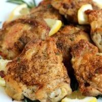 Monday's Dinner: Rosemary Lemon Chicken Thighs