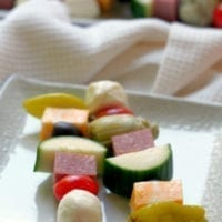 Friday's Dinner: Antipasto Salad Skewers
