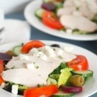 Monday's Dinner: Chicken Greek Salad