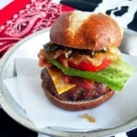 Thursday's Dinner: Cowboy Tumbleweed Burger