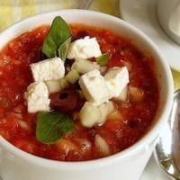 Monday's Dinner: Greek-Style Grilled Vegetable Gazpacho