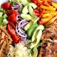 Friday's Dinner: Chicken Taco Salad with Crispy Tortilla Strips and Avocado Buttermilk Dressing