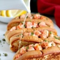 Thursday's Dinner: Langostino Warm Lobster Rolls