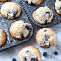 BreakfastOption:Bakery Style Blueberry Muffins