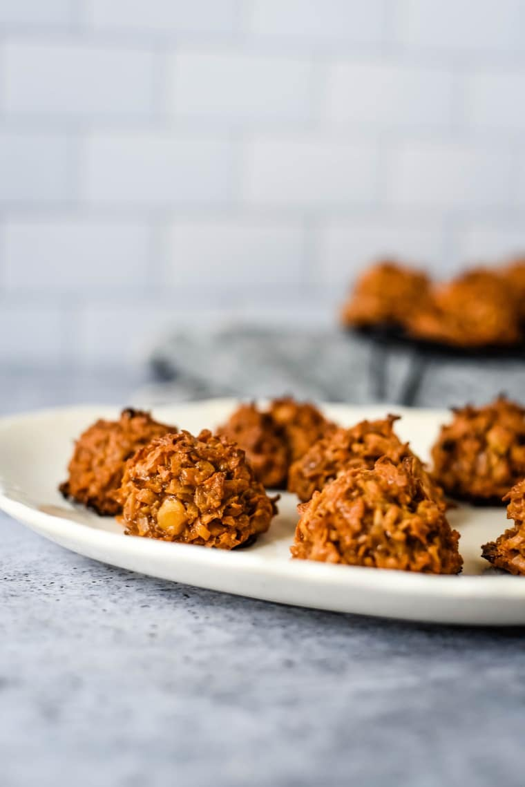 Coconutty Cocadas are shown on a platter