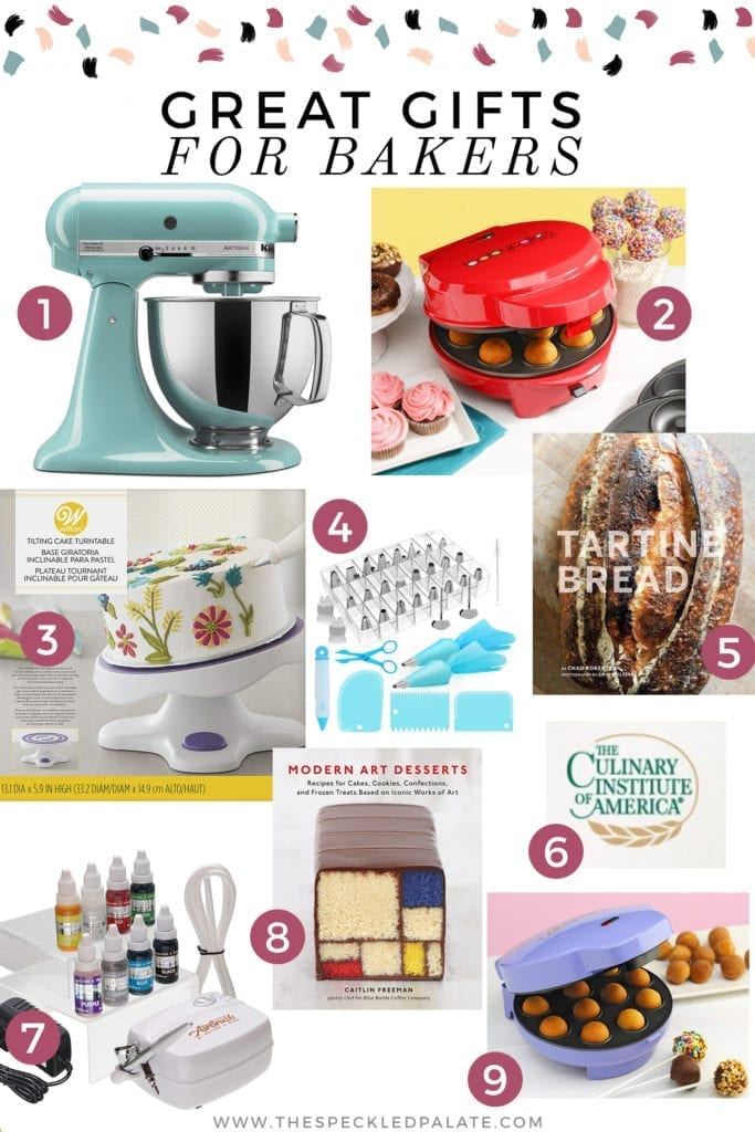 Pinterest collage of a gift guide for bakers