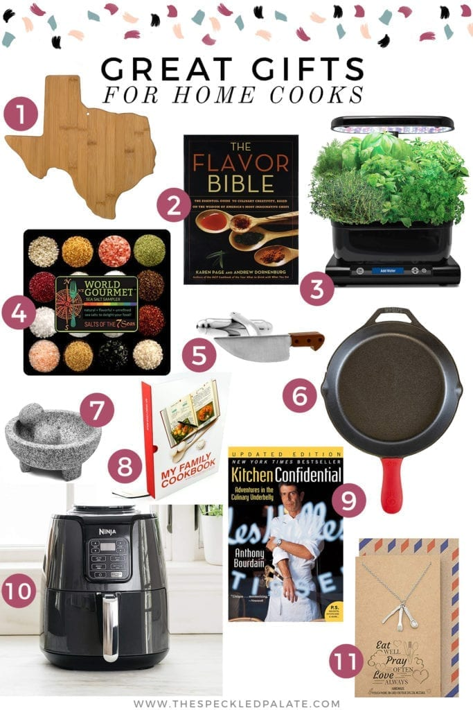 Collage featuring images of 11 Great Gifts for Cooks