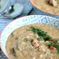 Wednesday's Dinner:Langostino Chowder