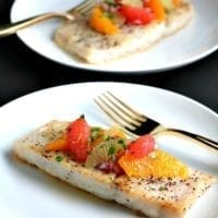 Wednesday's Dinner:Corvina Fish Recipe with Citrus Salsa