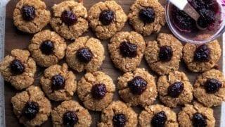 Paleo Coconut Thumbprint Cookies