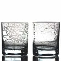 Glass Etched Map Tumbler