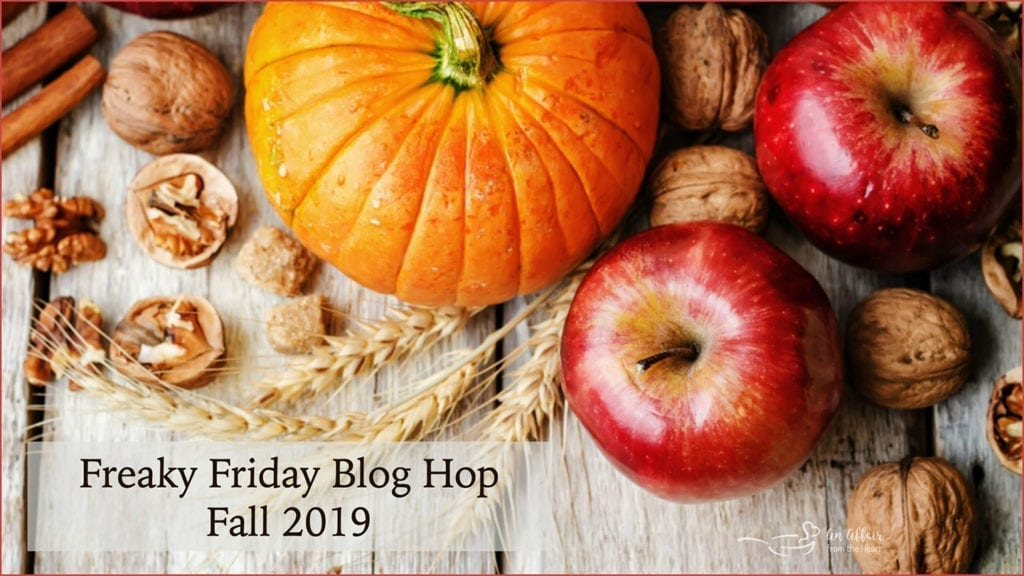 Freaky Friday Fall 2019 Graphic with Pumpkins and Apples