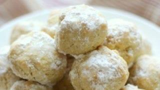 Italian Wedding Snowball Cookies (Gluten-Free, Vegan, Paleo)