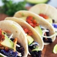 Monday's Dinner: Roasted Black Bean Tacos