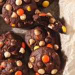 Halloween Peanut Butter Chocolate White Chocolate Chip Cookies