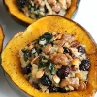 Tuesday's Dinner: Stuffed Acorn Squash with Sausage