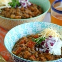 Monday's Dinner: Slow Cooker Turkey Pumpkin Chili