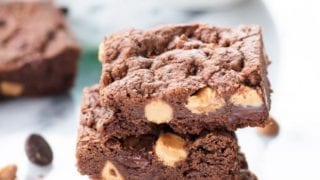 Chewy Double Chocolate Peanut Butter Cookie Bars