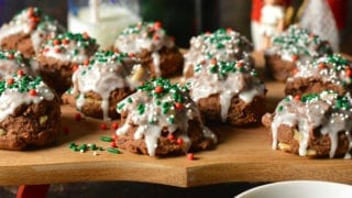 Chocolate Italian Meatball Cookies
