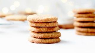 Flourless Brown Sugar Shortbread Cookies
