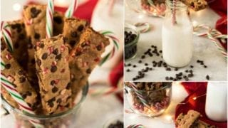Peppermint Chocolate Chip Cookie Sticks