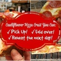 Friday's Dinner: Cauliflower Pizza Crust