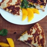 Friday's Dinner:Mango Chicken Quesadillas with Brie