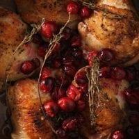 Wednesday's Dinner:Cranberry Chicken Thighs