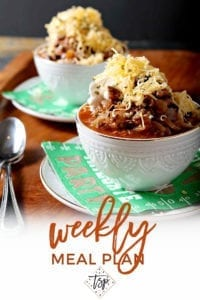 Pinterest image for Dinner Divas Weekly Meal Plan 135, featuring a close up of the Cranberry Chicken Thighs
