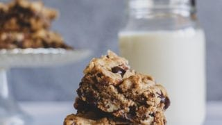 Vegan Double Chocolate Pecan Cookie Bars
