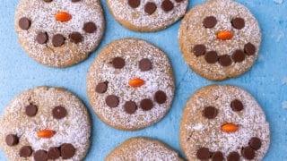 Snowman Peanut Butter Cookies