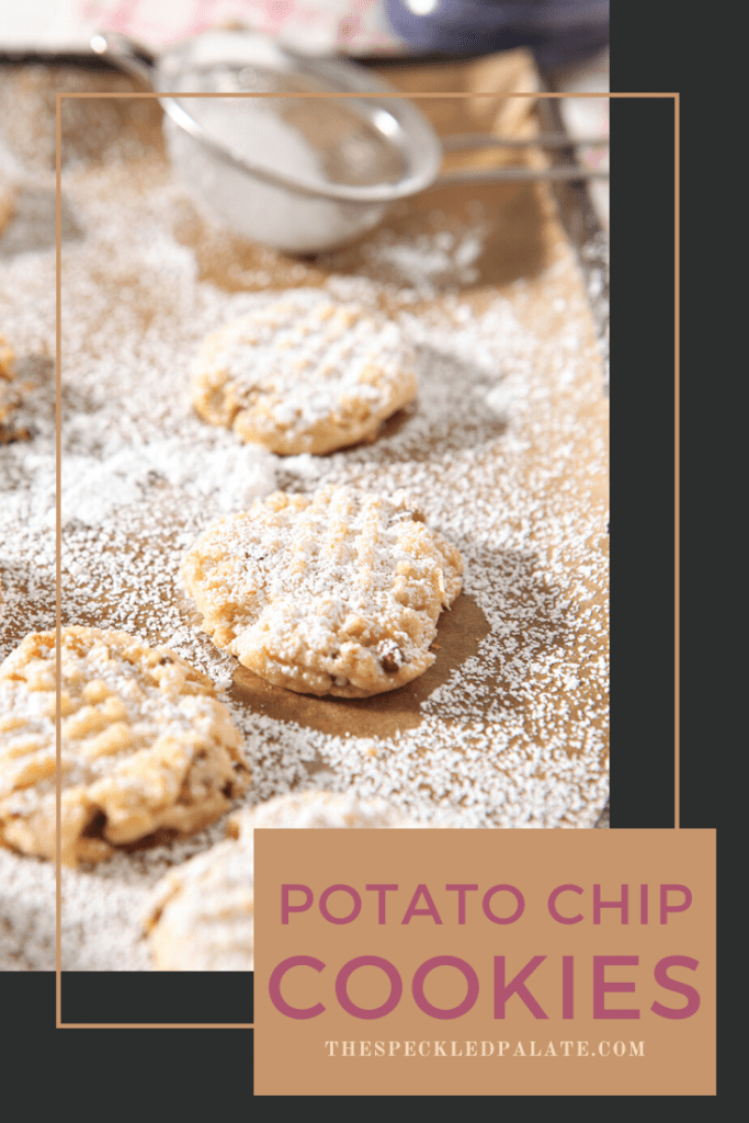 Sweet and salty Potato Chip Cookies are perfect for sharing, whether you're baking them for the holidays or any given week. Made with just a few simple ingredients and easily made dairy free and vegan, too. #easyentertaining #speckledpalate