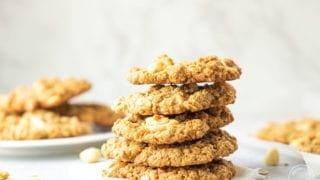 White Chocolate Macadamia Oatmeal Cookies