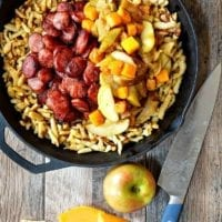 Monday's Dinner: Polish Sausage with Apples, Onions, and Butternut Squash