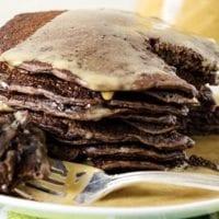Thursday's Dinner:Yeast Raised Chocolate Chocolate Chip Pancakes