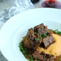 Wednesday's Dinner:Braised Short Ribs with Red Wine